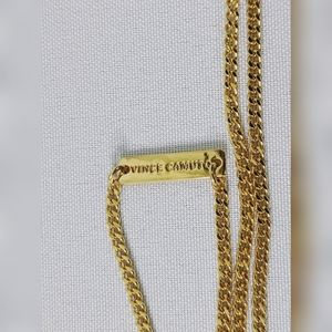 Vince Camuto Jewelry - Vince Camuto Black Geometric & Gold Tone Necklace